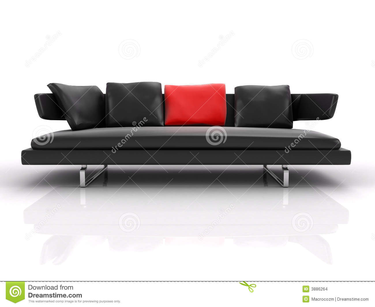 black leather couch whith red pillow black leather couch with red