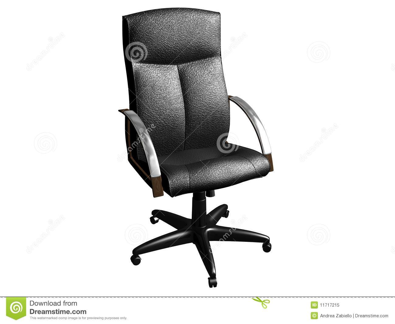 Black Leather Office Armchair Royalty Free Stock Photo Image 11717215