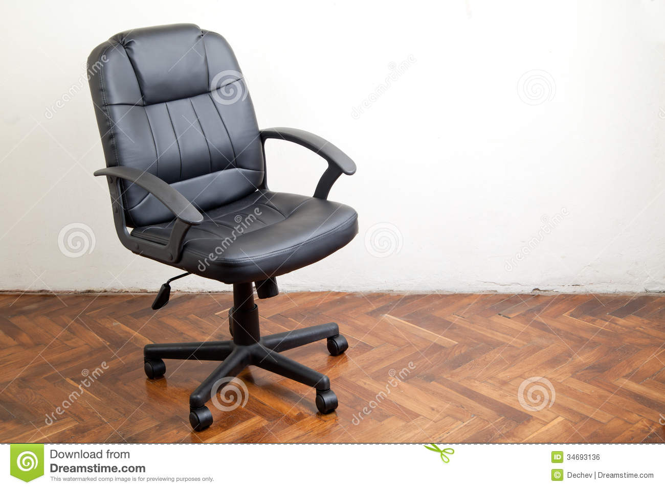 Black Leather Office Chair Royalty Free Stock Image Image 34693136