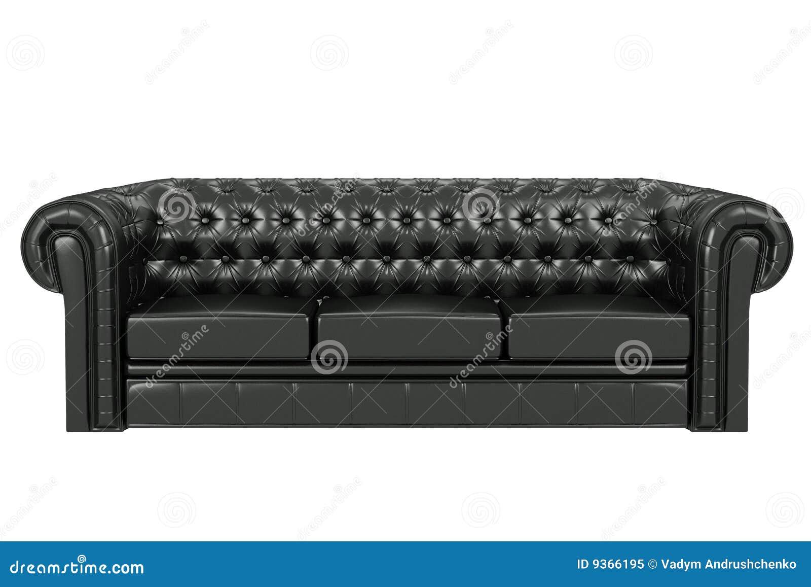 black leather sofa 3d black leather sofa