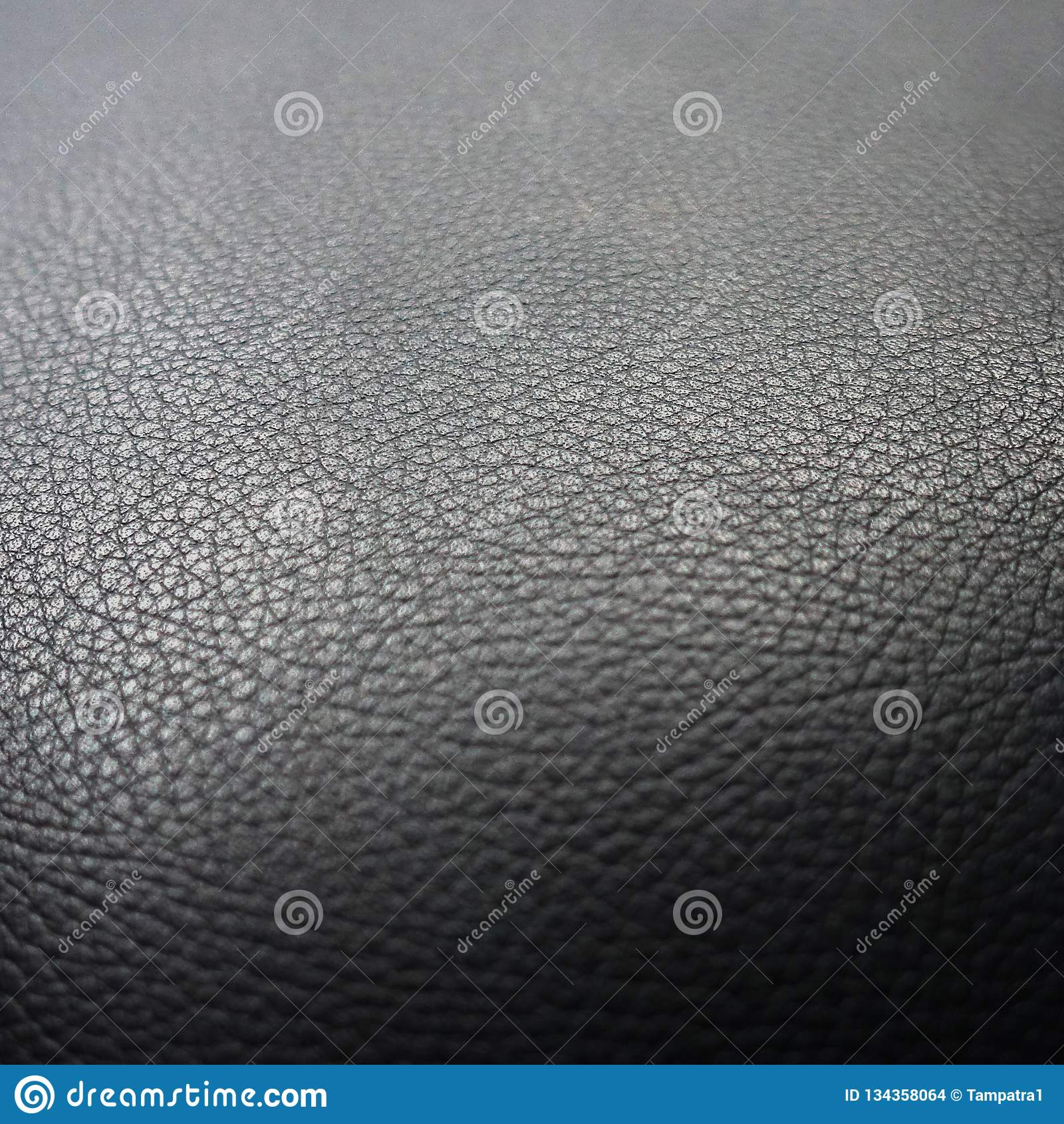 Black Leather Sofa Pattern Surface Texture Close Up Of Interior