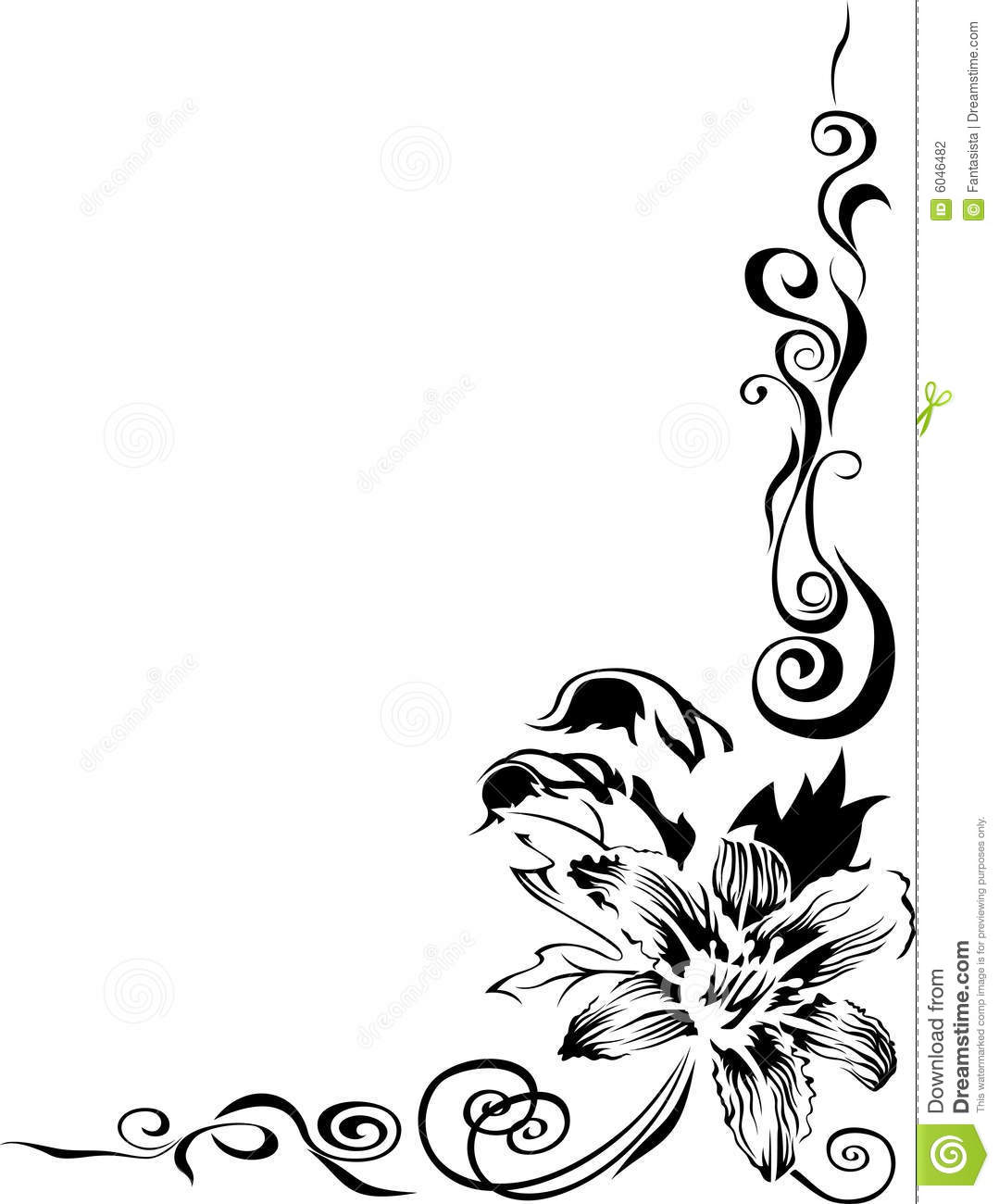 Black Lily Border Stock Vector Illustration Of Lily Artistic 6046482