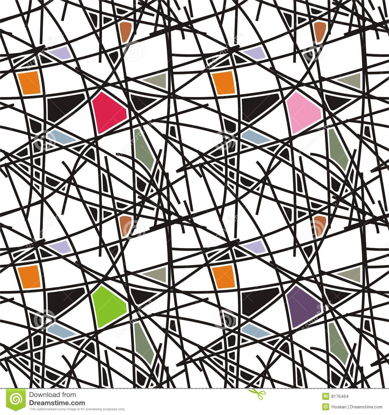 Geometric Line Design Patterns : Black lines with geometric pattern stock vector image