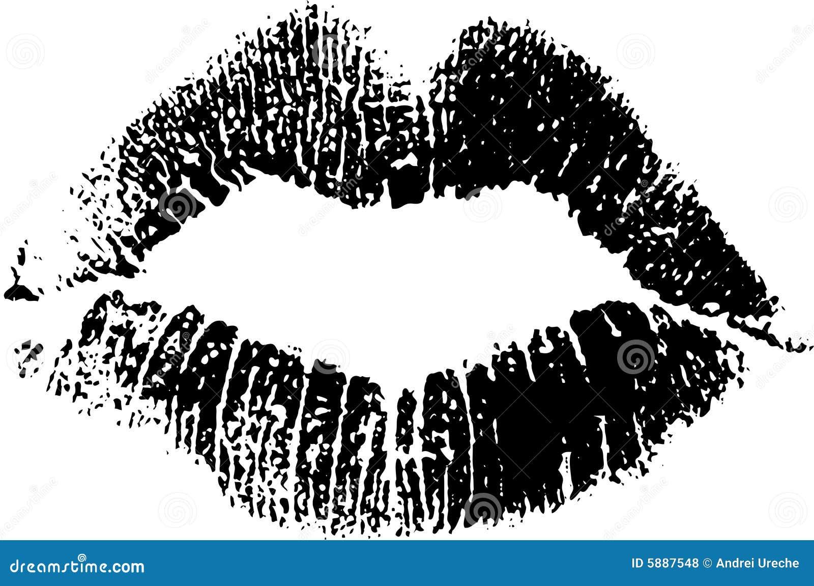 black lipstick kiss stock illustrations 1 282 black lipstick kiss