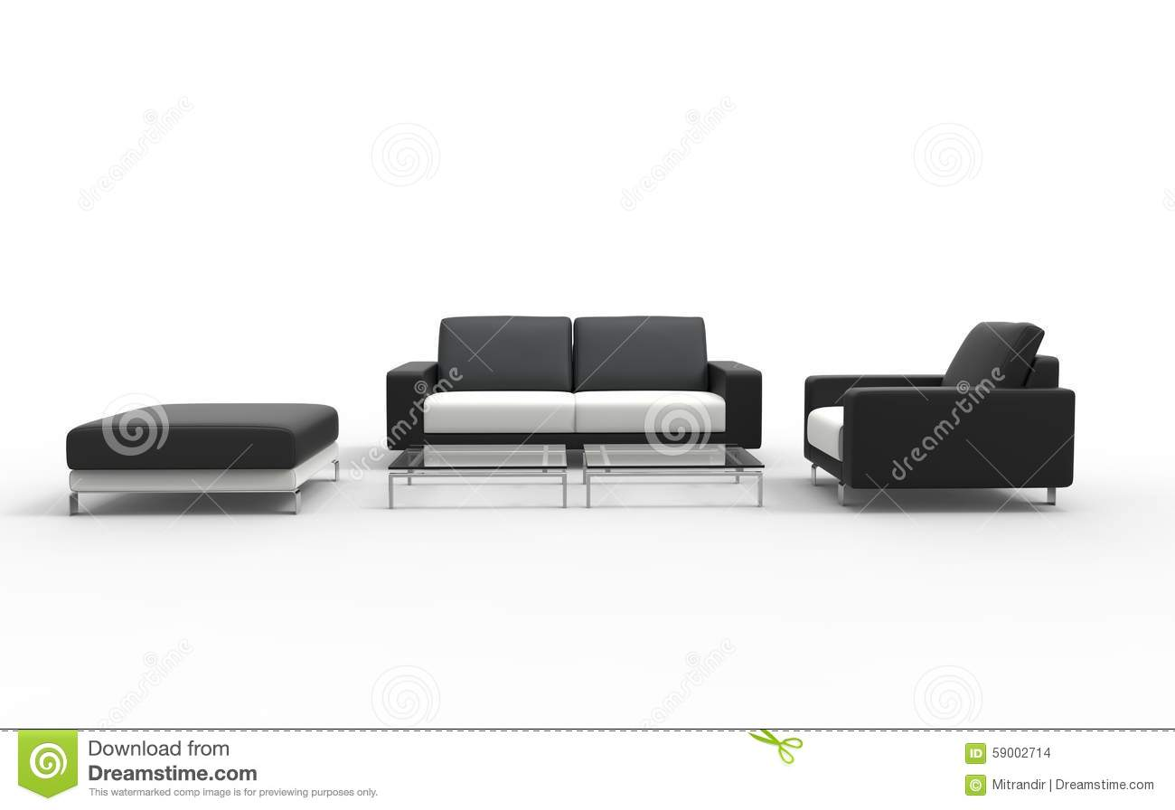 Black Living Room Set stock photo. Image of couch, armchair - 59002714