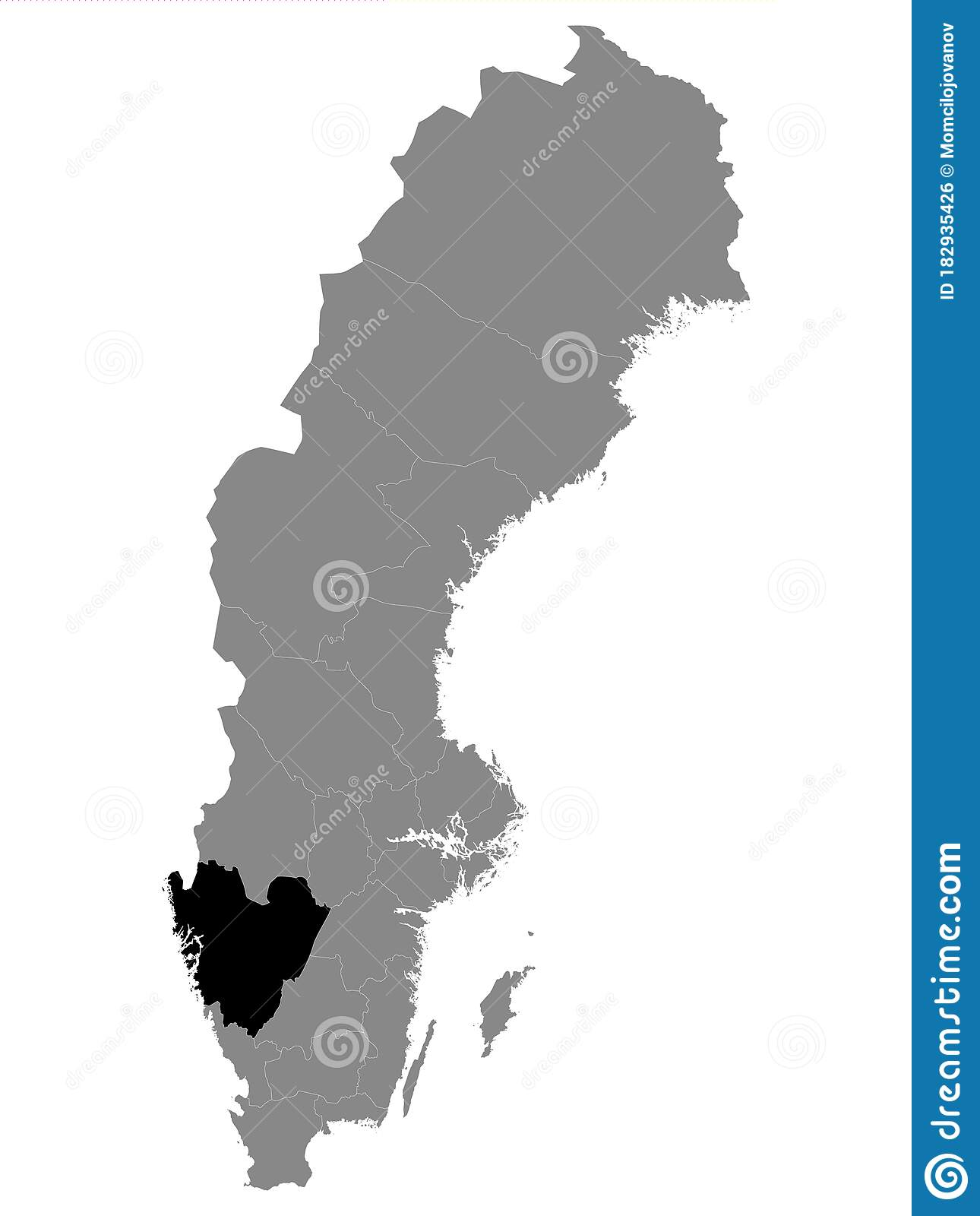 Location Map Of Vastra Gotaland County Stock Vector Illustration Of Scandinavia Sodermanland 182935426
