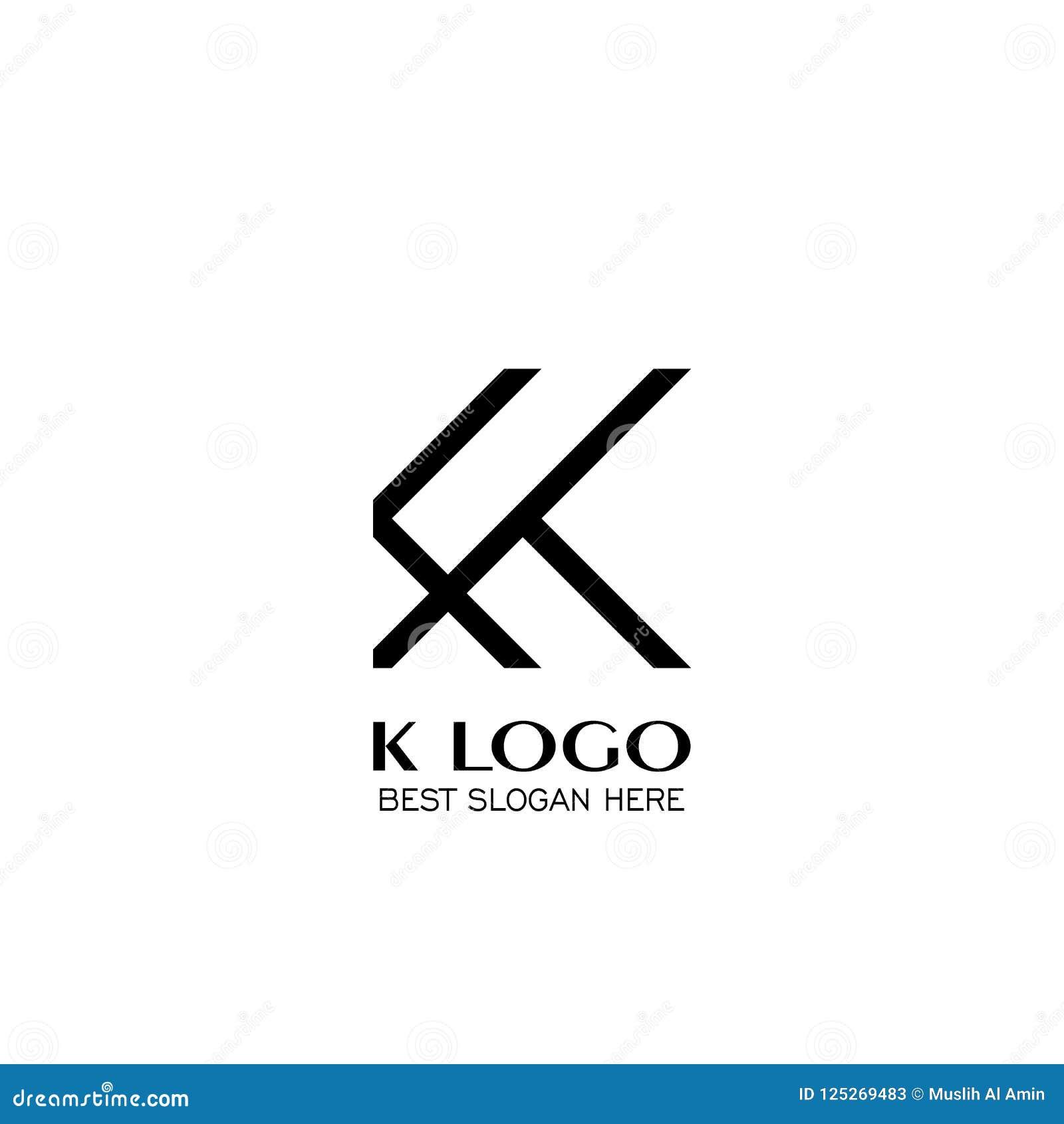 letter k logo design square line concept template creative logo design