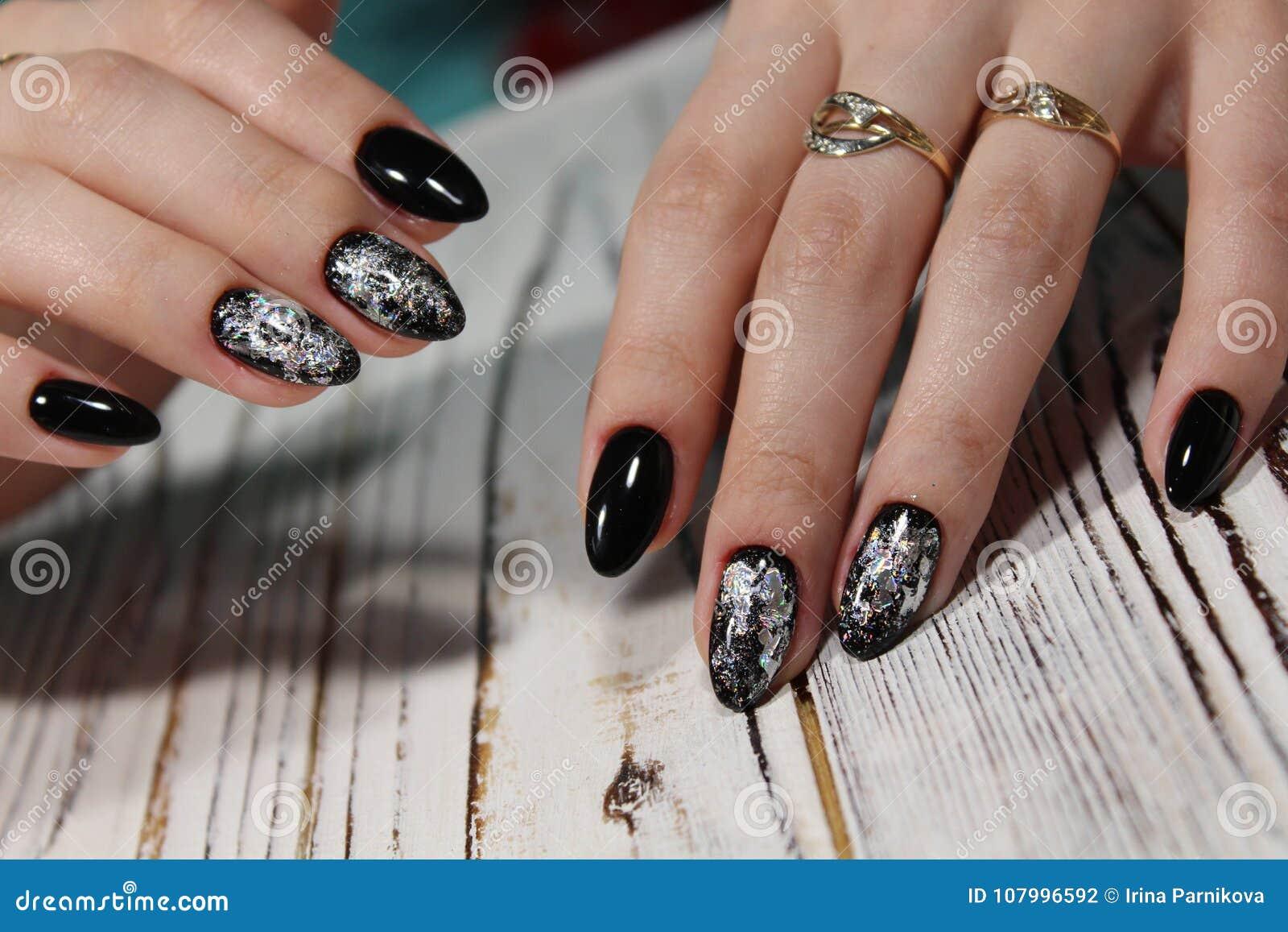 Black Long Nails Stock Photo Image Of Female Style 107996592