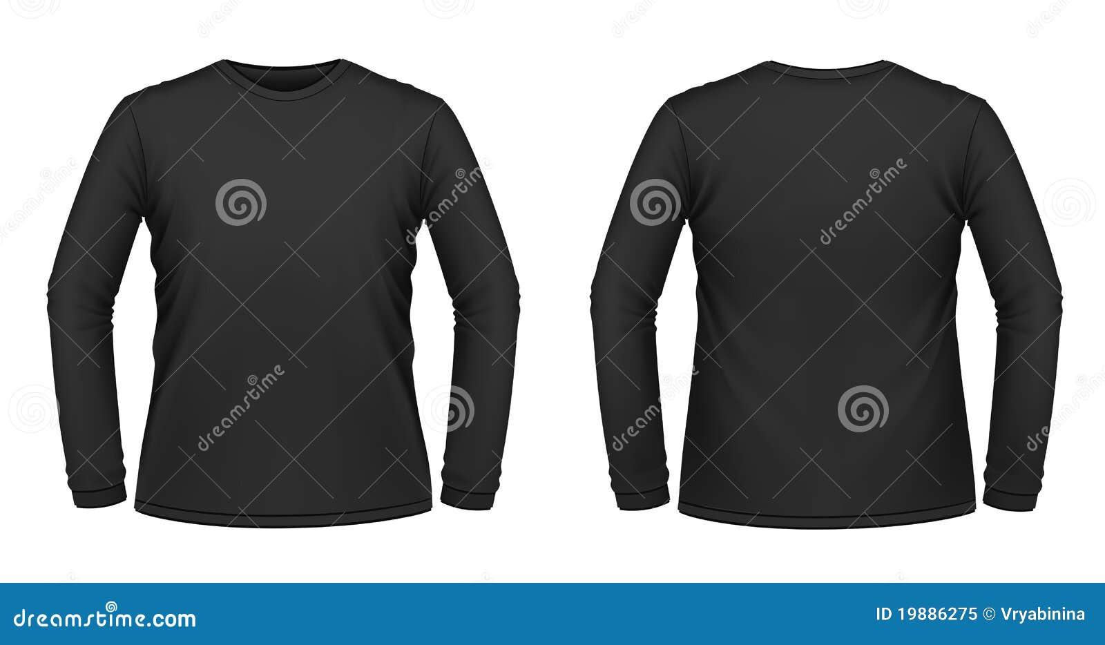 Black long sleeved t shirt stock illustration for Blank long sleeve shirt