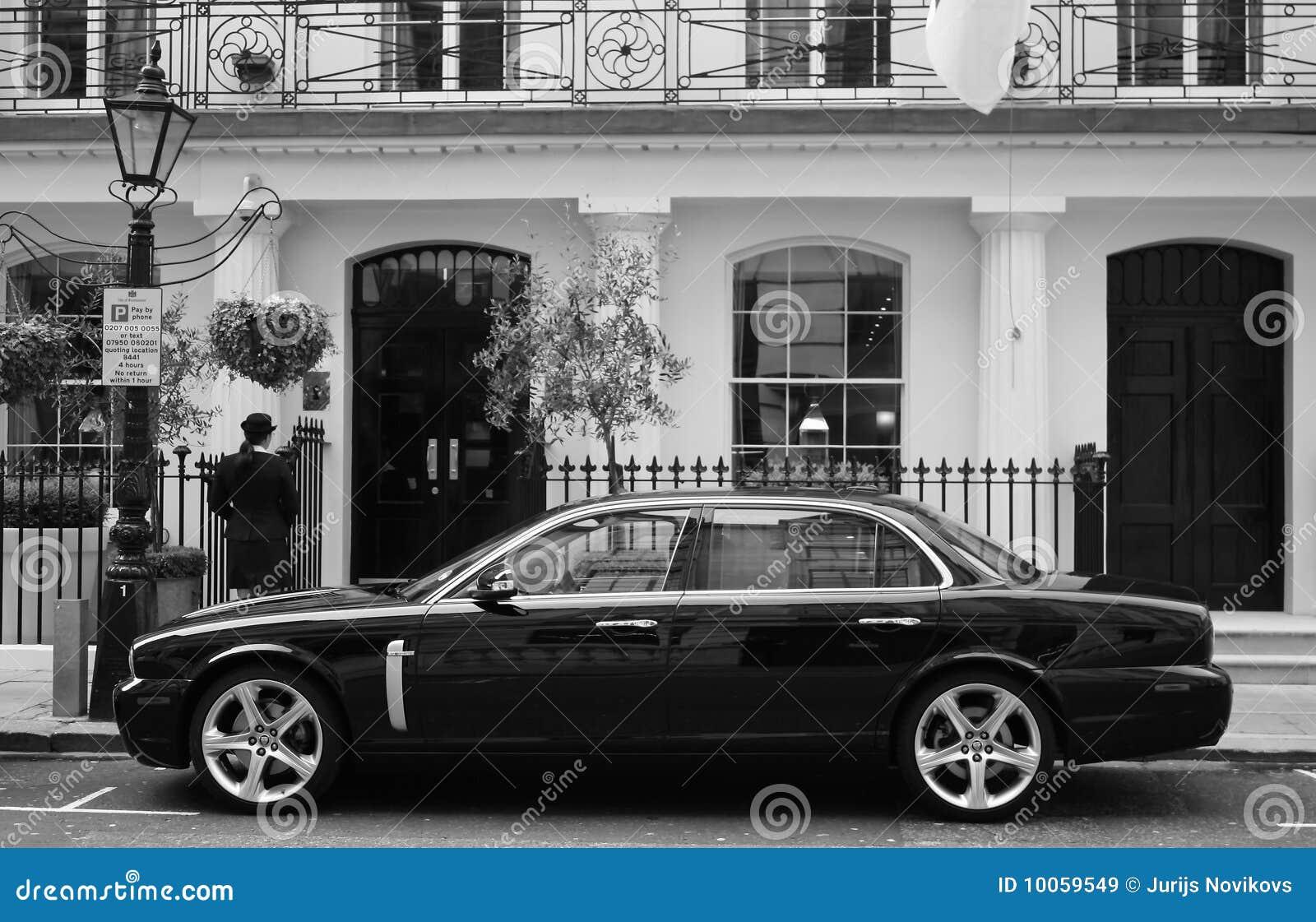 Black Luxury Car Stock Image Image Of Clean London 10059549