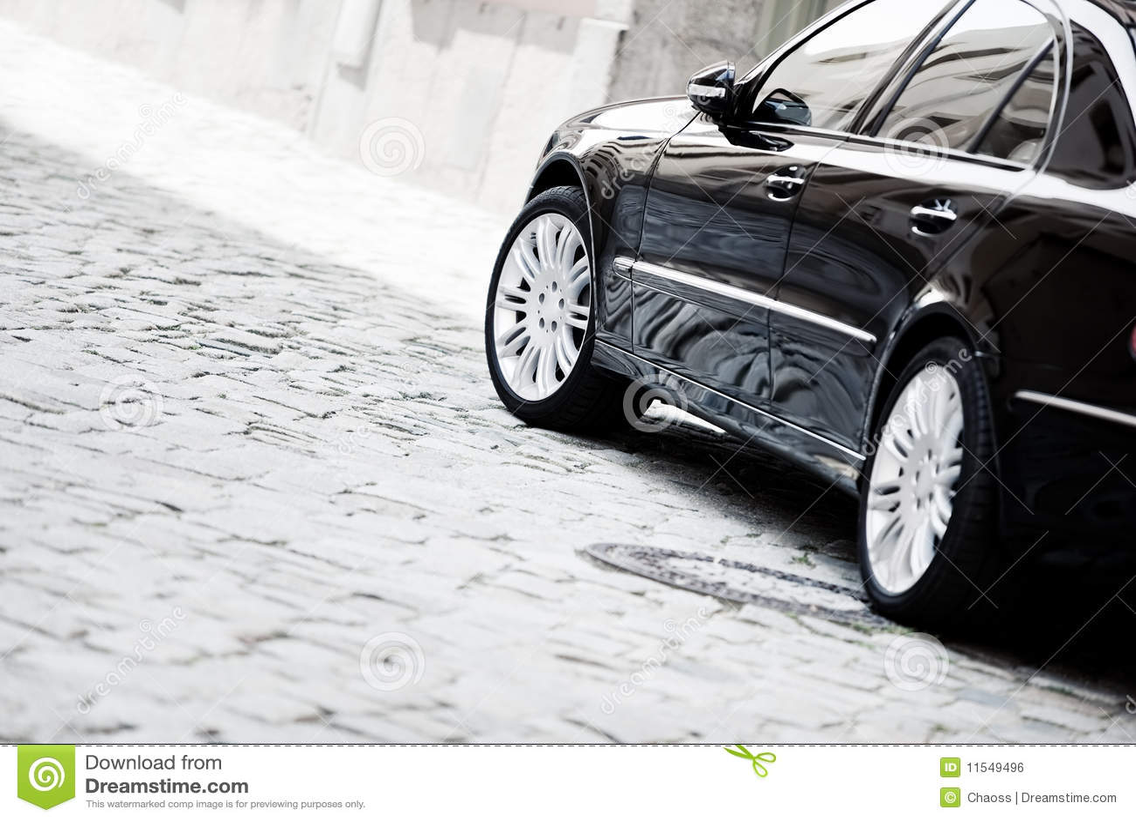 Black Luxury Car Royalty Free Stock Image