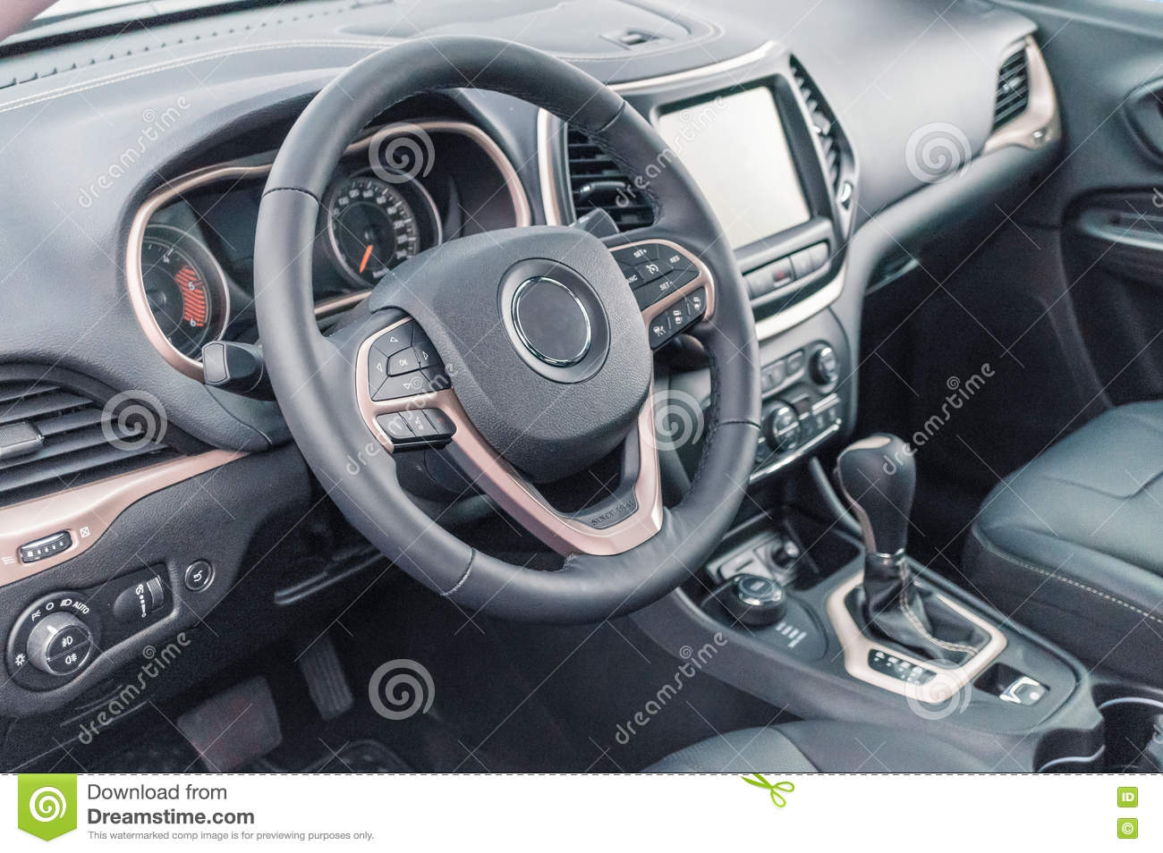 modern shift gear in luxury car interior stock photography 90311942. Black Bedroom Furniture Sets. Home Design Ideas