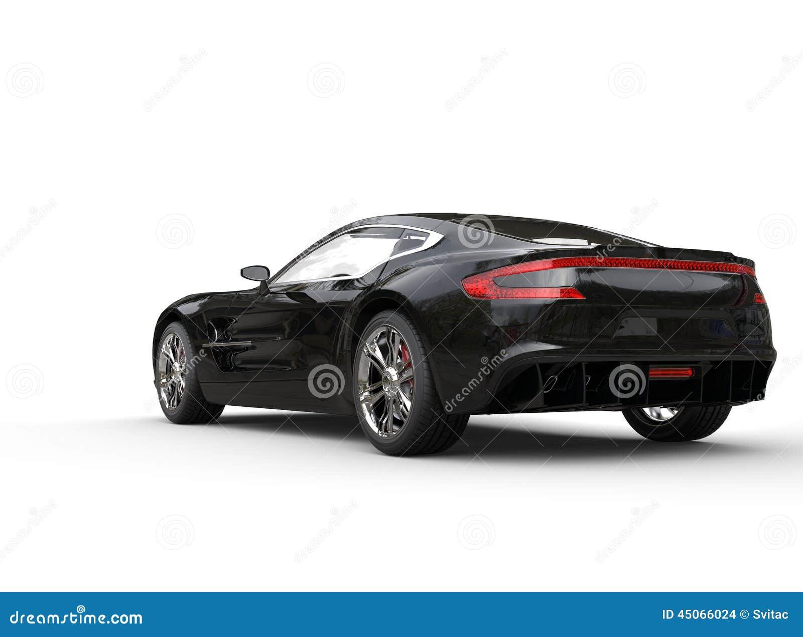 Black Luxury Vehicles: Black Luxury Sports Car On White Background