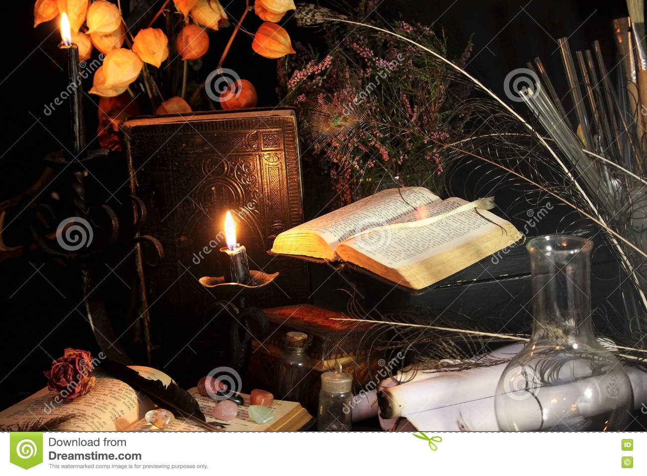 Black Magic Ritual stock image  Image of diablos, candle - 80987895