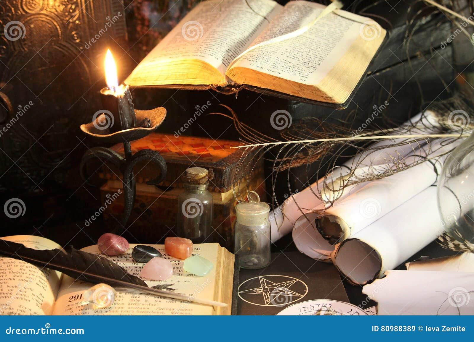 Black Magic Ritual stock image  Image of diablos, cards - 80988389
