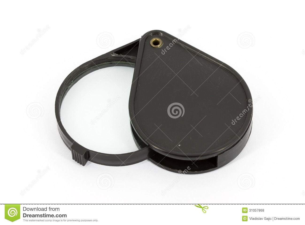 Black Magnifying Glass Royalty Free Stock Photos