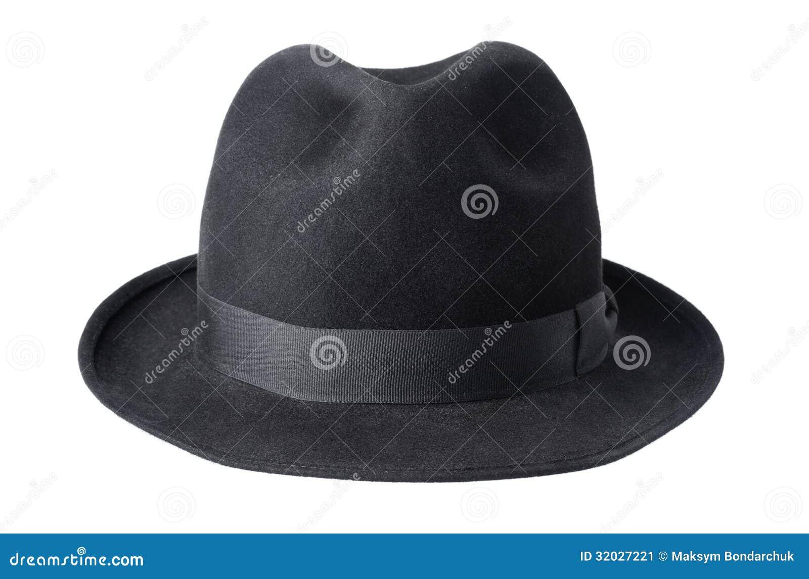 afe4929c2e813 Black Male Felt Hat Isolated On White Stock Image - Image of nobody ...