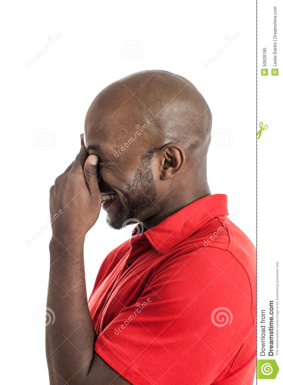 Black man laughing stock image. Image of casual, african ...