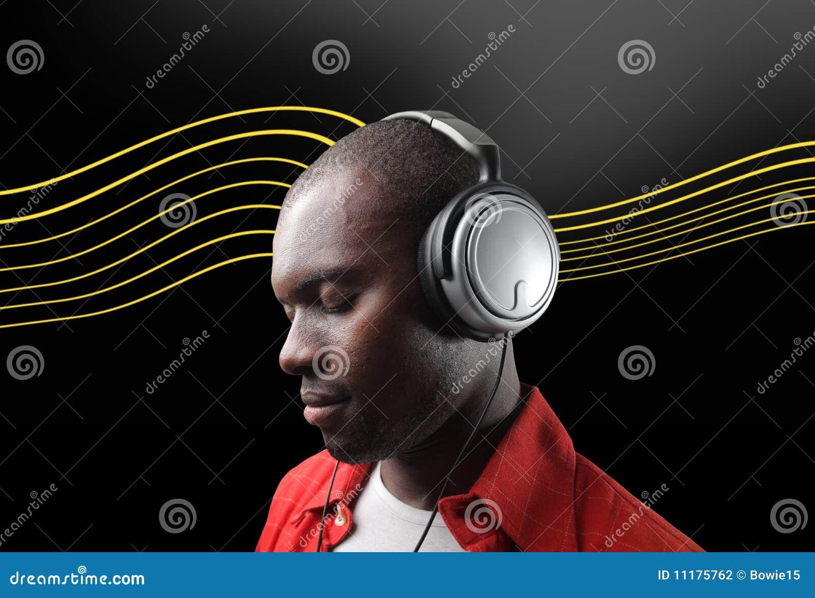 Black Man Listening Music Stock Photography - Image: 11175762