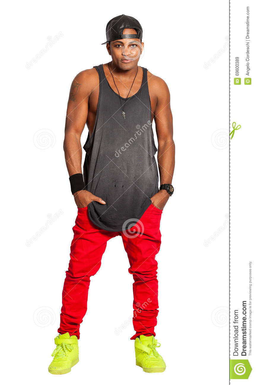 Black Man Urban Street Style Isolated On White Png Available Stock Image Image 69600389