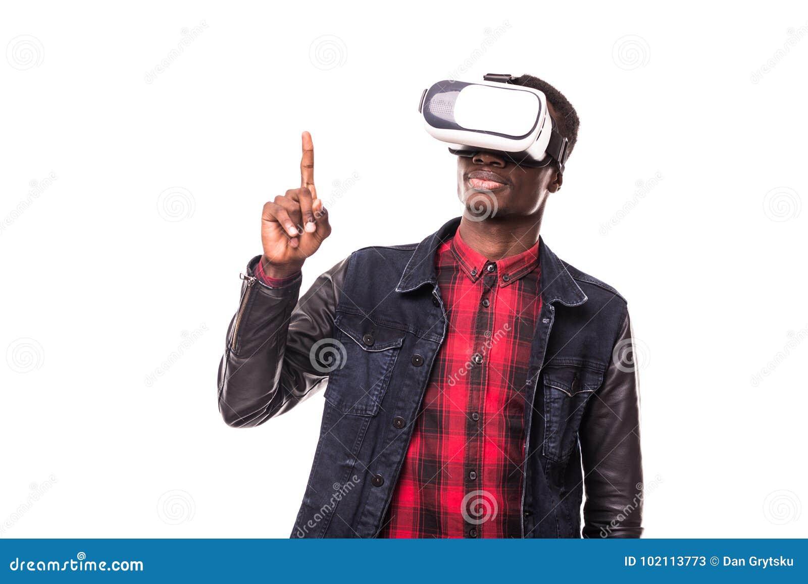 1aba77a2bd1 Surprised African Businessman Using Oculus Rift Headset ...