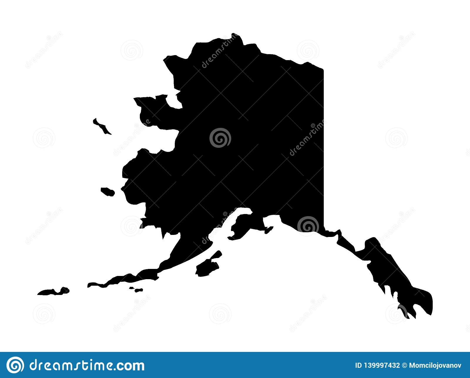 Picture of: Black Map Of Usa State Of Alaska Stock Vector Illustration Of Putin Mexico 139997432
