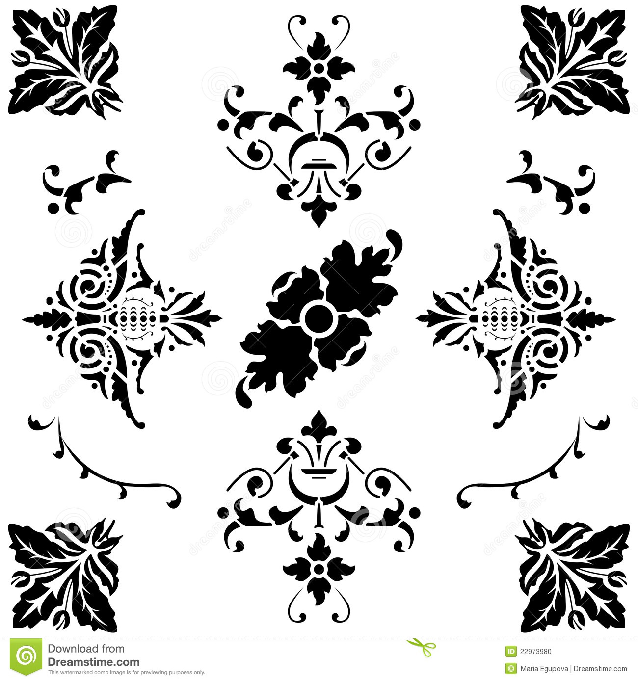 Black and white ornaments - Medieval