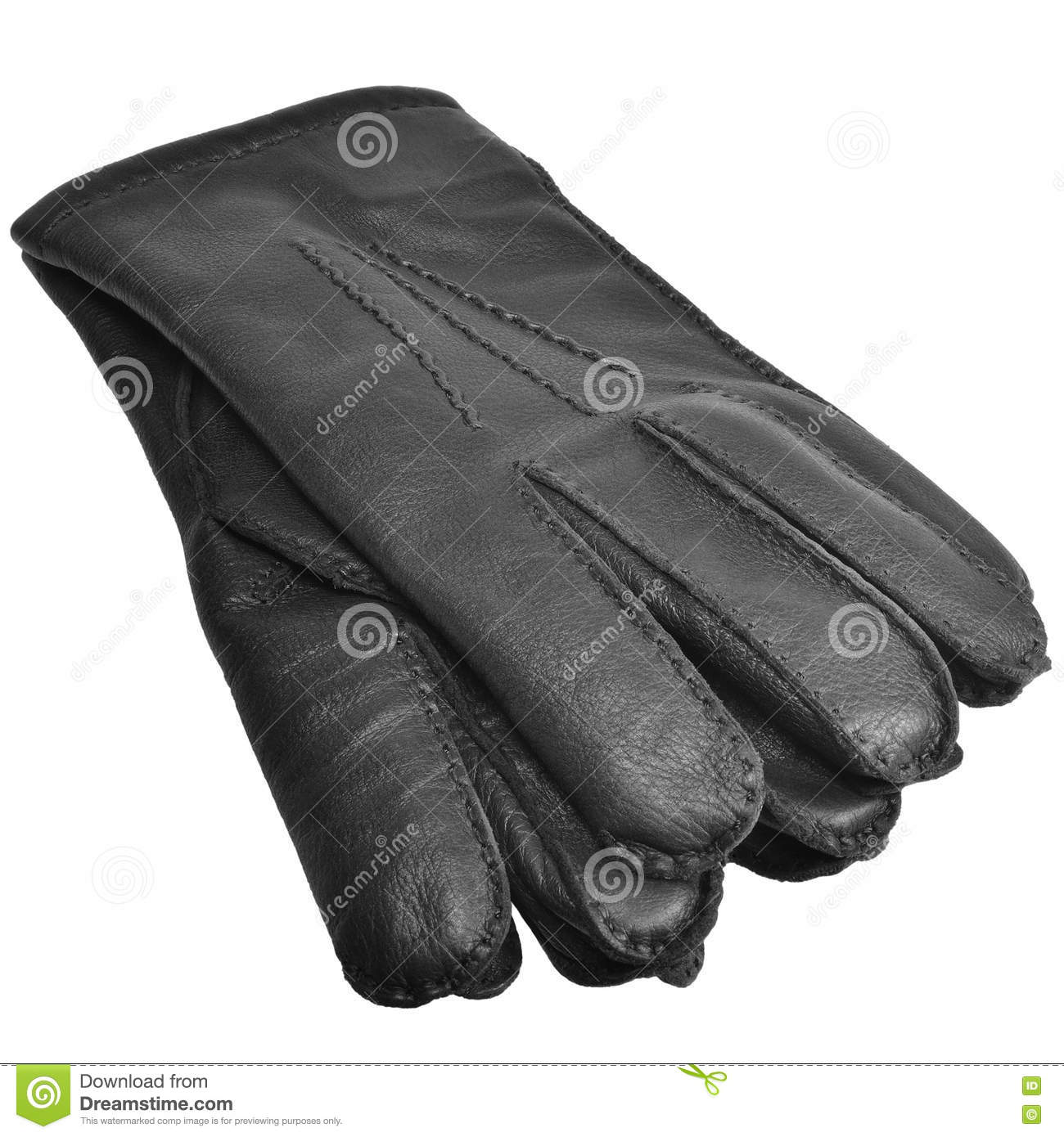 Mens deerskin gloves - Black Men Deerskin Gloves Large Detailed Isolated Men S Fine Grain Deer Leather Glove Pair Macro