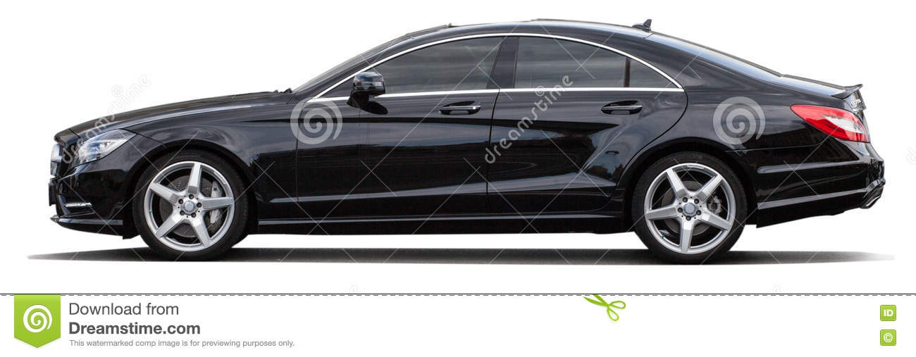 Black Mercedes Benz On A Transparent Background Stock Image Image