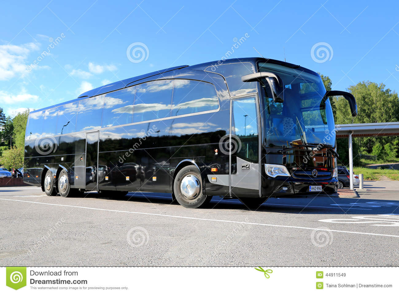 Black mercedes benz travego coach bus editorial stock for Mercedes benz touring coach