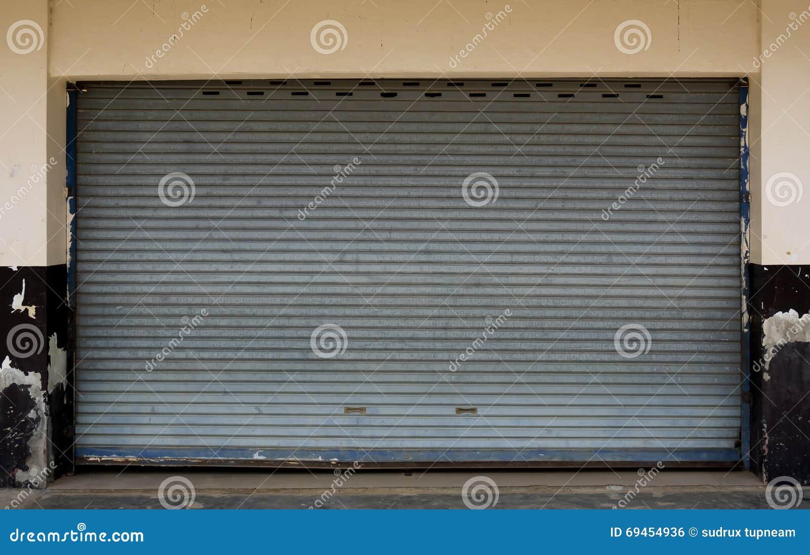 Steel Garage Door Texture black metal garage door roll gate texture. stock photo - image