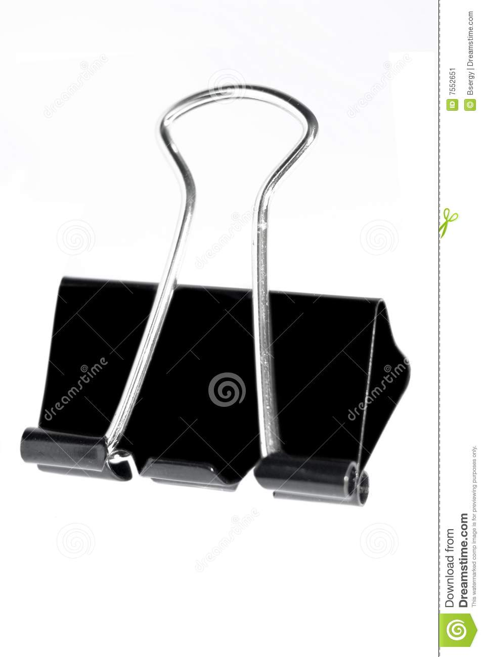 black metal paper clip stock image image of clamp device 7552651