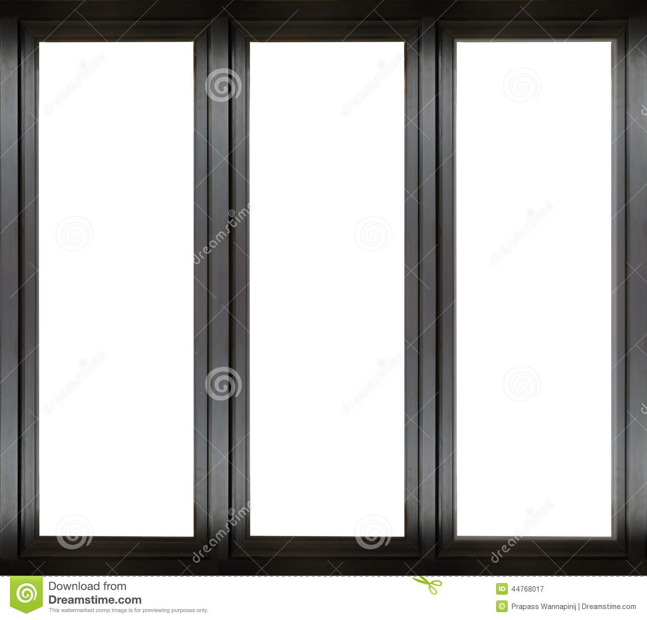 Black metal window frame stock image image of close for Porte fenetre aluminium