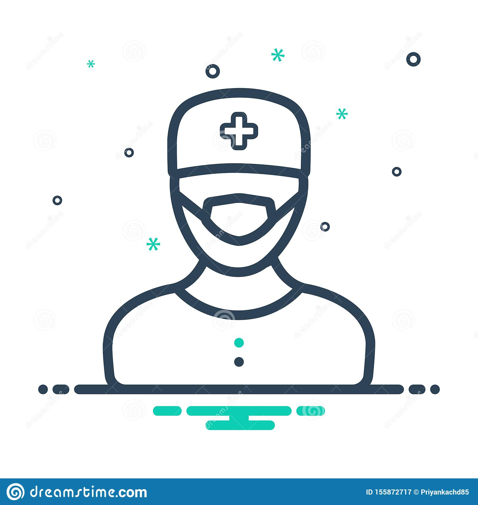 Black Mix Icon For Surgeon Doctor And Professional Stock Vector Illustration Of Surgeon Logo 155872717
