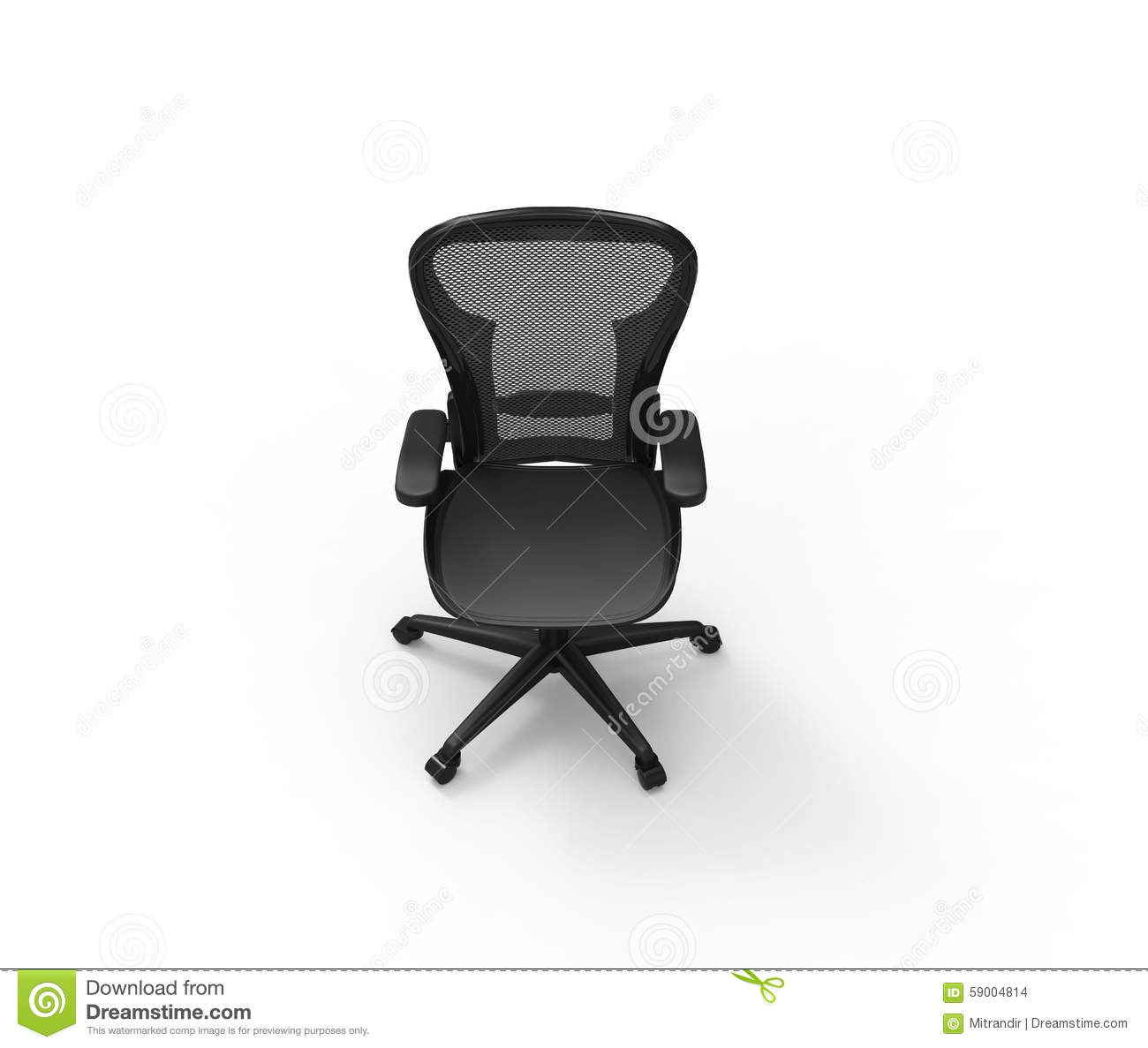 black modern office chair top view stock illustration illustration of leather comfortable. Black Bedroom Furniture Sets. Home Design Ideas