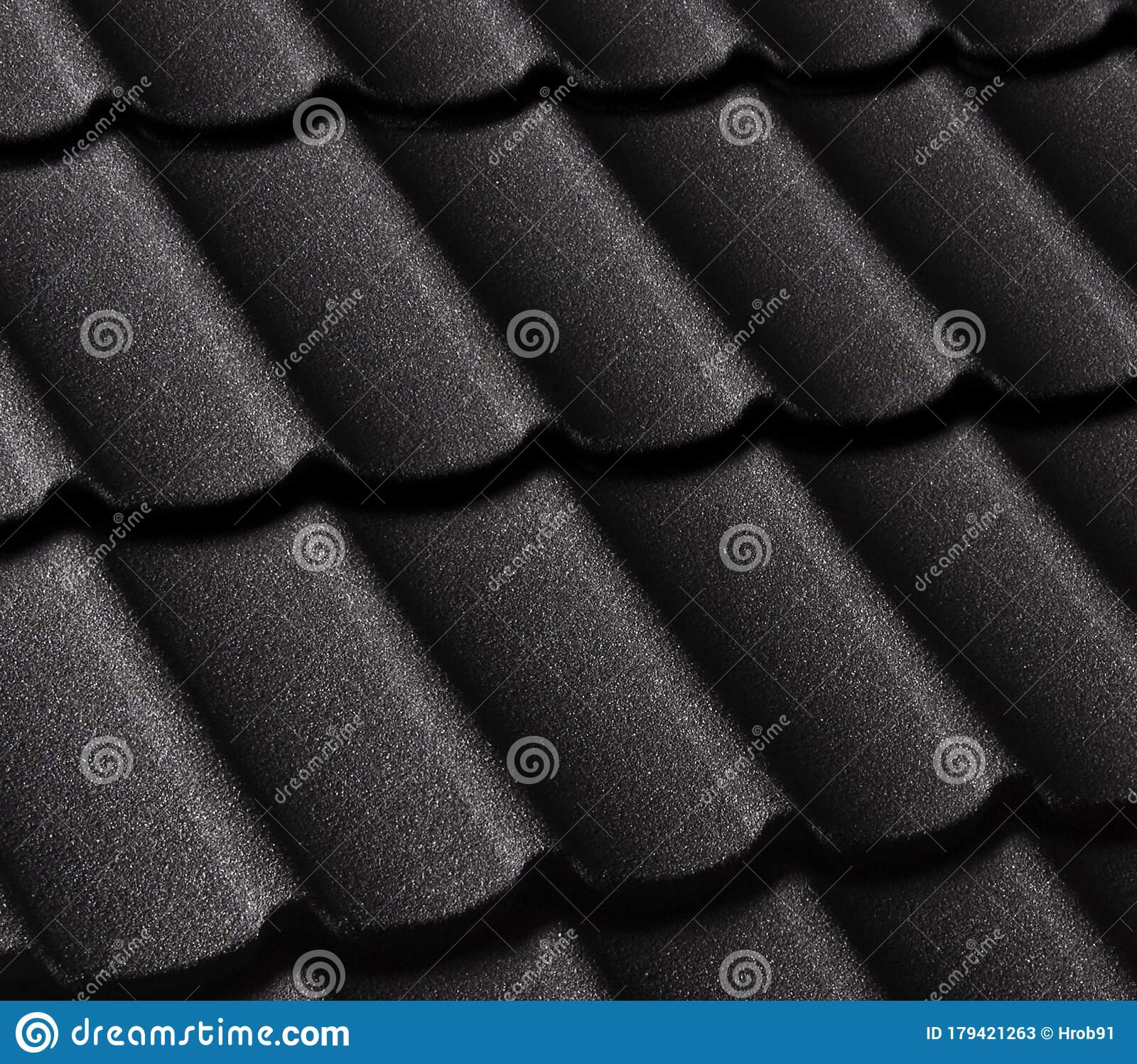 Modern House Red Roof: Black Modern Roof Texture Stock Image. Image Of Close