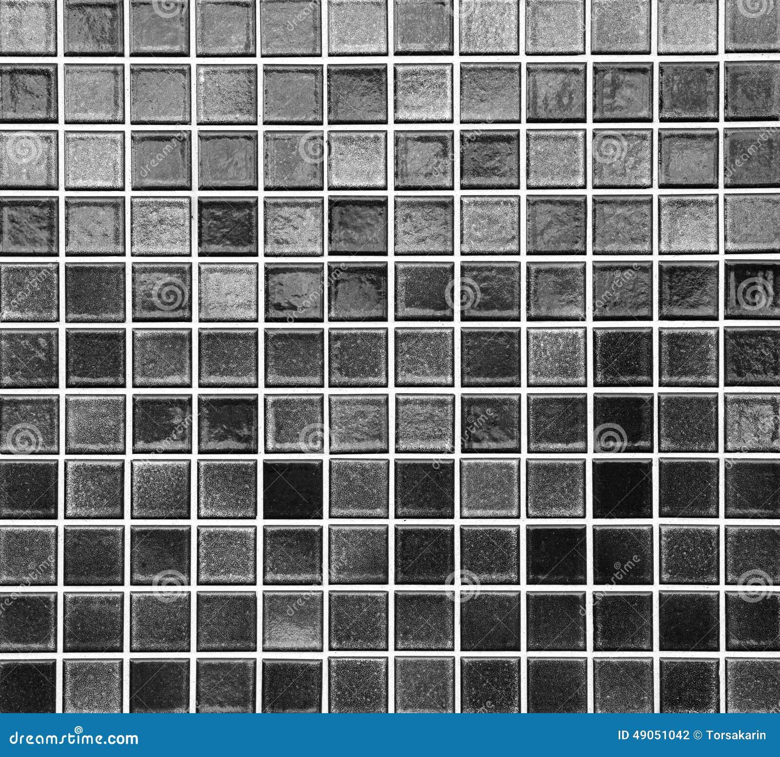 Black Mosaic Tile Stock Photo Image Of Texture Tile 49051042