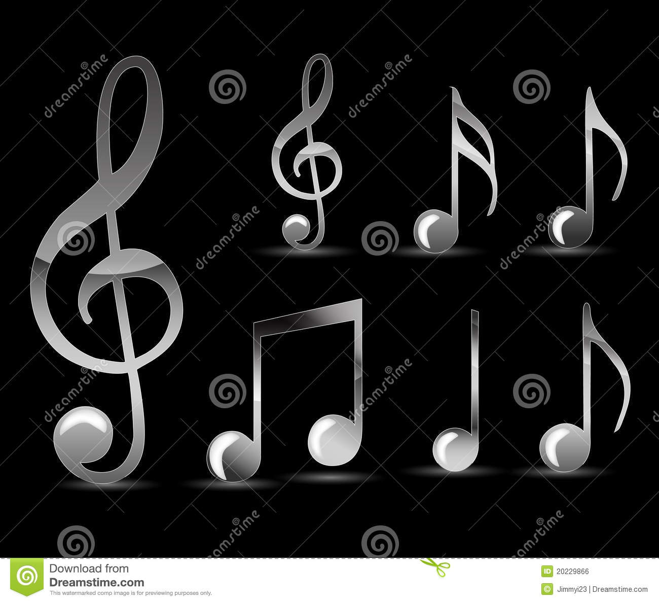 Black Music Note Royalty Free Stock Image Image 20229866