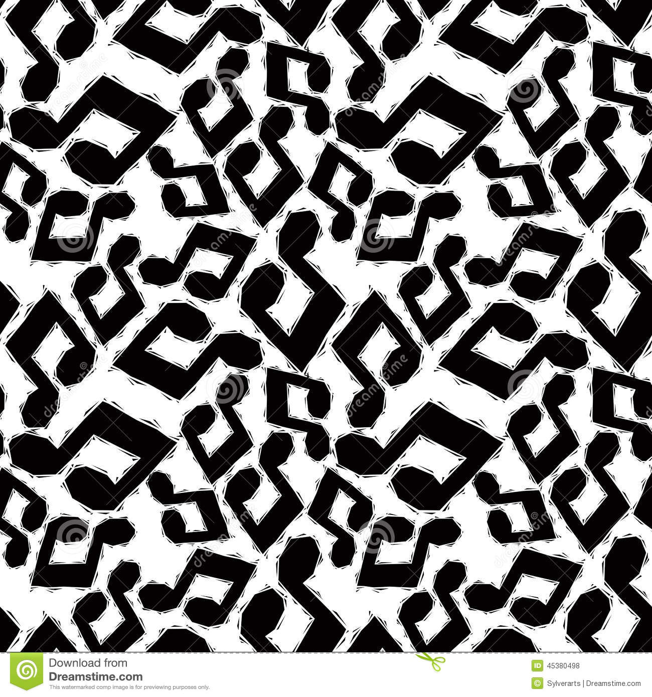 Black Musical Notes Seamless Pattern And White