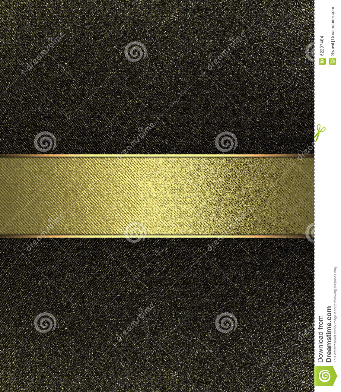 Black nameplate with gold line element for design for Copy design