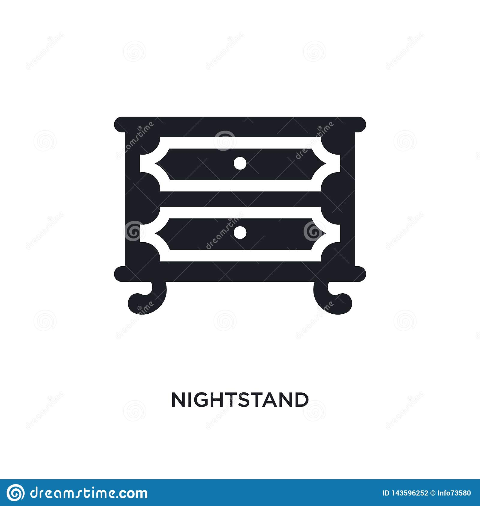 Black Nightstand Isolated Vector Icon Simple Element Illustration From Furniture Household Concept Vector Icons Nightstand Stock Vector Illustration Of Interior Wardrobe 143596252