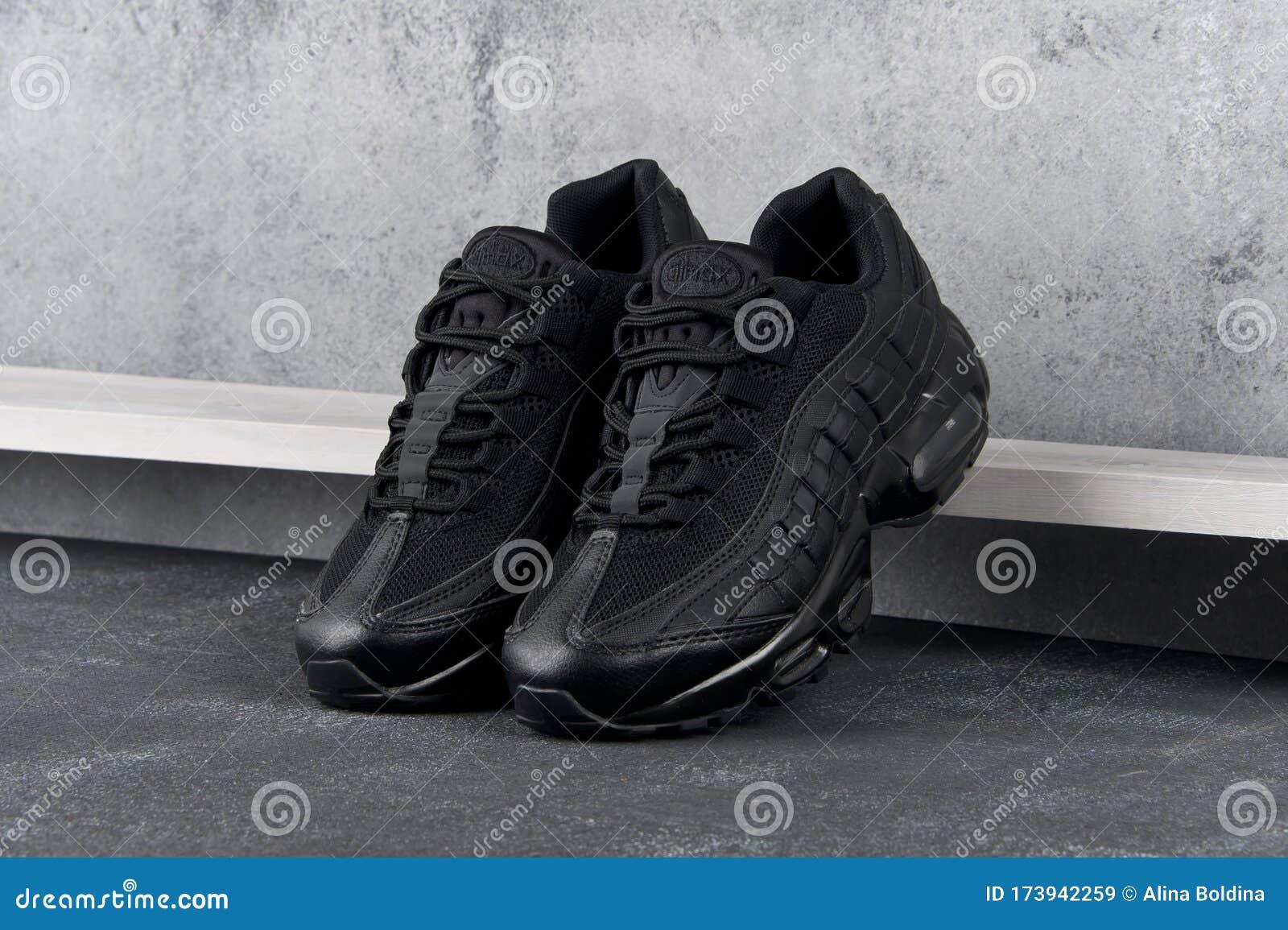 Black Nike Air Max 95 Sneakers, Running
