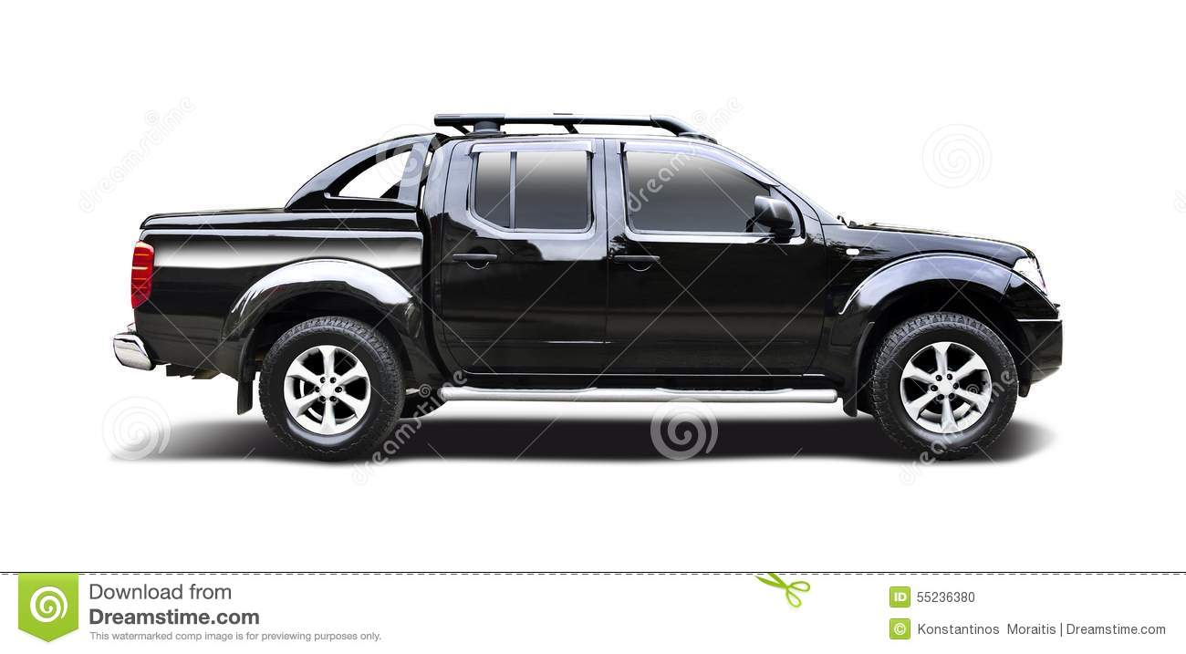 Black pick-up truck Nissan Navara isolated on white.: www.dreamstime.com/stock-photo-black-nissan-navara-pick-up-truck...