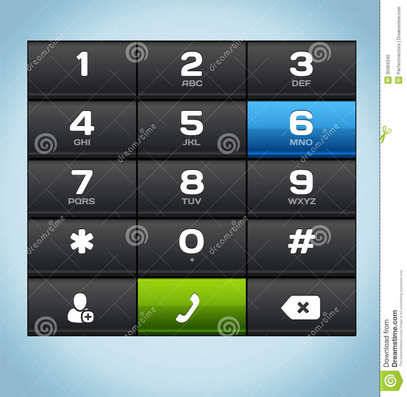 Black Number Phone Keypad stock vector. Illustration of characters - 30363340