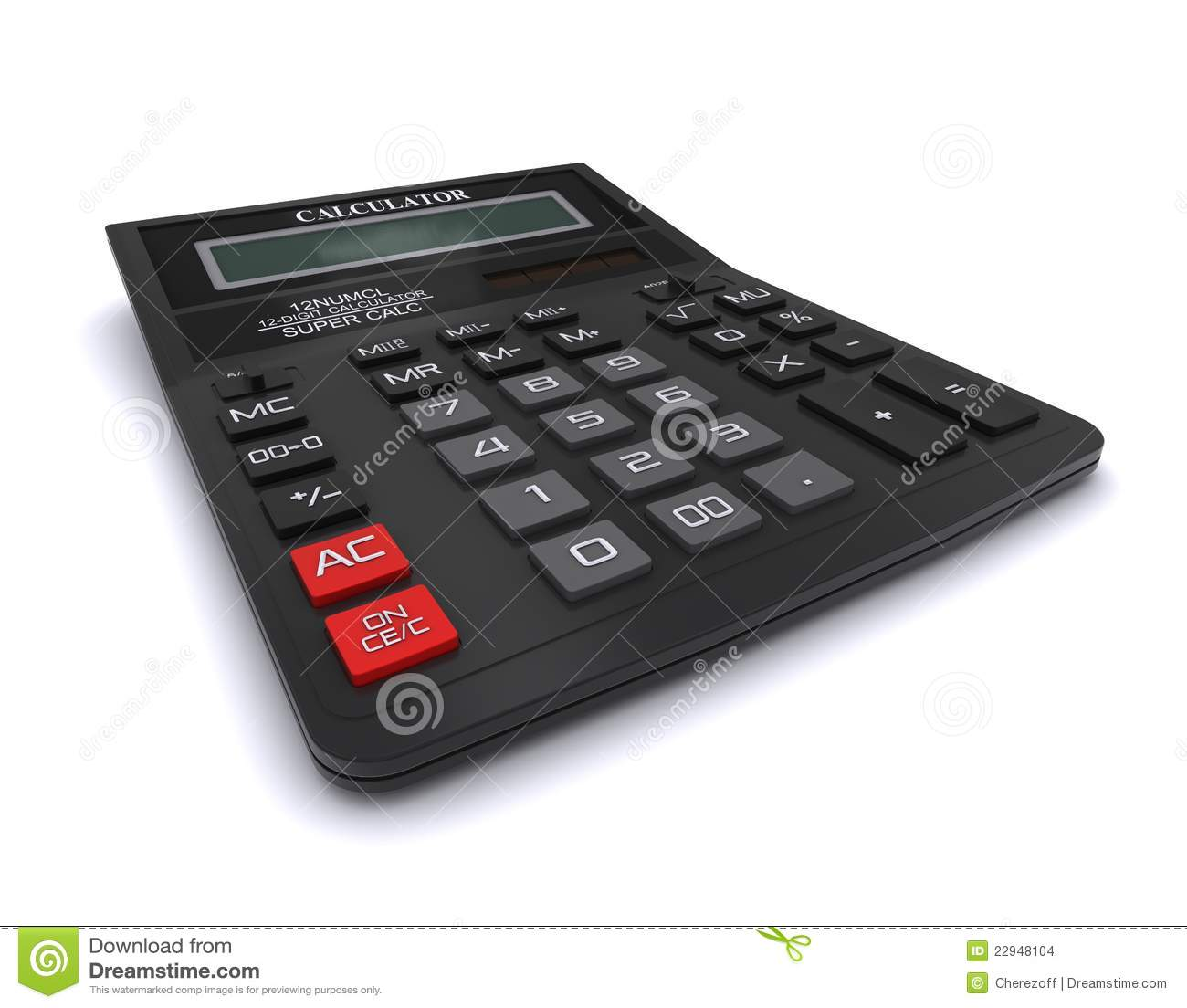Black Office Calculator Stock Images Image 22948104