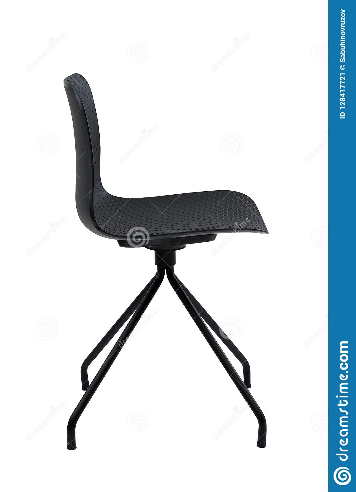 Peachy Black Office Chair Isolated On White Modern Chair On White Caraccident5 Cool Chair Designs And Ideas Caraccident5Info
