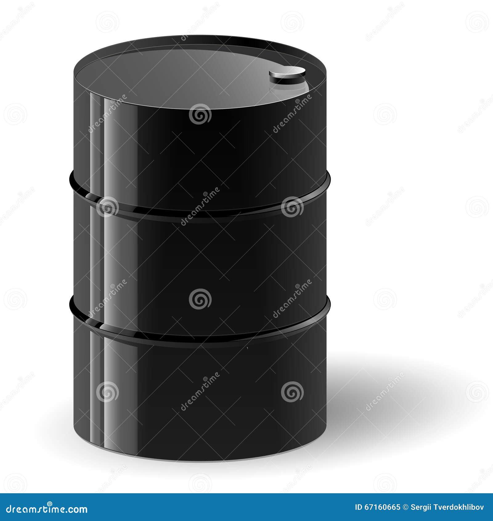 Black oil barrel vector illustration.
