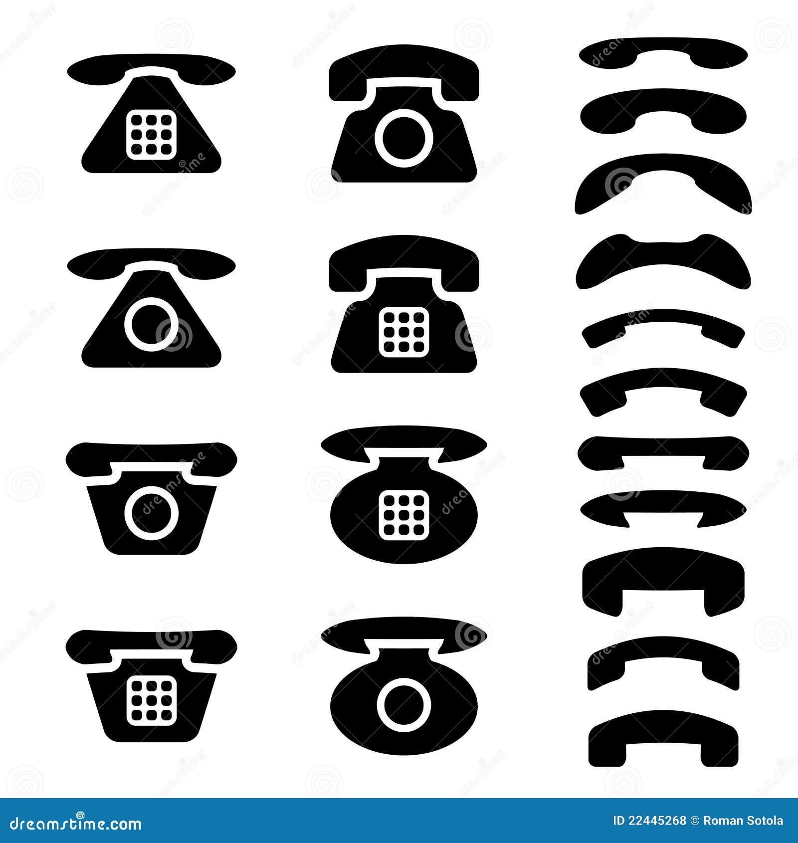 телефон во векторе