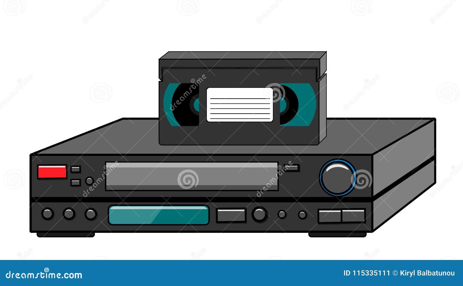 Black Old Vintage Retro Vintage Hipster Vintage Video Recorder With