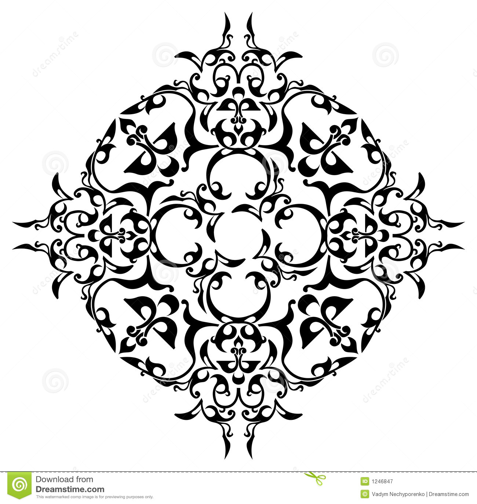 Black ornamental design